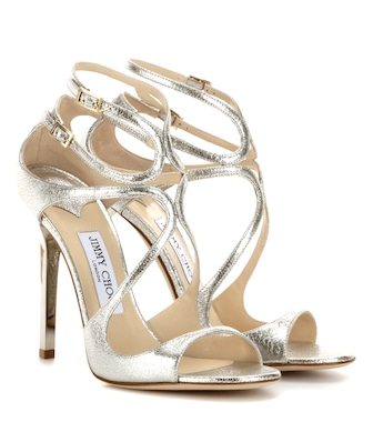Jimmy Choo - Lance metallic leather sandals - mytheresa.com