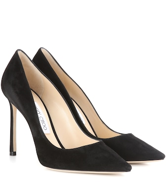 Jimmy Choo - Pumps Romy 100 aus Veloursleder - mytheresa.com