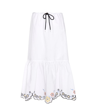 See By Chloé - Embroidered cotton skirt - mytheresa.com