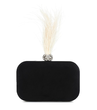 Jimmy Choo - Cloud embellished velvet clutch - mytheresa.com