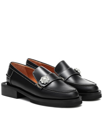 Ganni - Loafers Jewel aus Leder - mytheresa.com