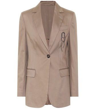 Brunello Cucinelli - Single-breasted cotton blazer - mytheresa.com