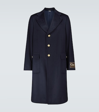 Gucci - Cashmere-blend coat with logo - mytheresa.com