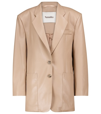 Nanushka - Evan faux-leather blazer - mytheresa.com
