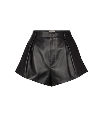 Saint Laurent - Short en cuir - mytheresa.com