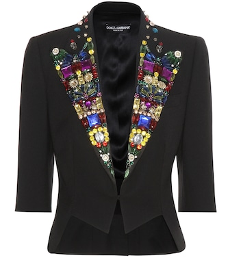 Dolce & Gabbana - Embellished virgin wool and silk-blend jacket - mytheresa.com