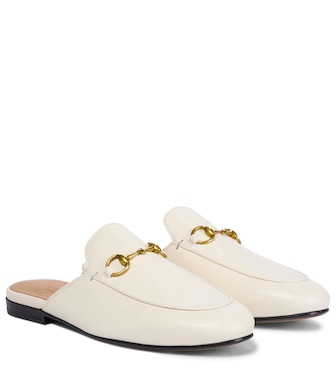 Gucci - Princetown leather slippers - mytheresa.com