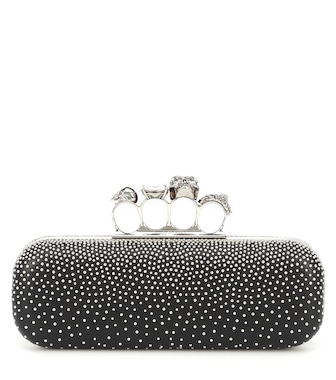 Alexander McQueen - Four-ring leather clutch - mytheresa.com