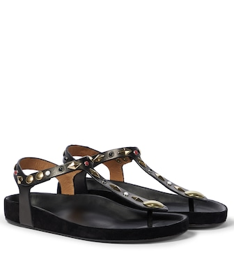 Isabel Marant - Enore leather thong sandals - mytheresa.com