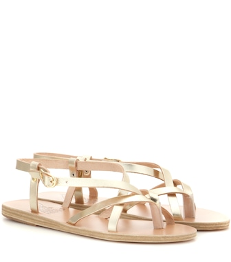 Ancient Greek Sandals - Semele metallic leather sandals - mytheresa.com