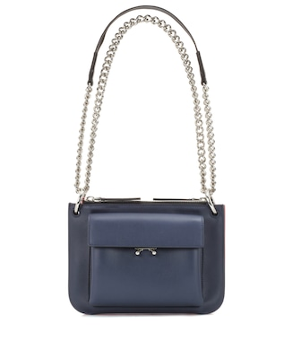 Marni - Pocket Bandoleer leather shoulder bag - mytheresa.com
