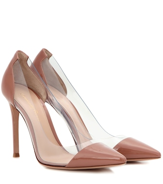 Gianvito Rossi - Plexi patent leather and transparent pumps - mytheresa.com