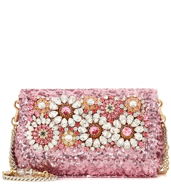 Dolce & Gabbana - Anna embellished shoulder bag - mytheresa.com