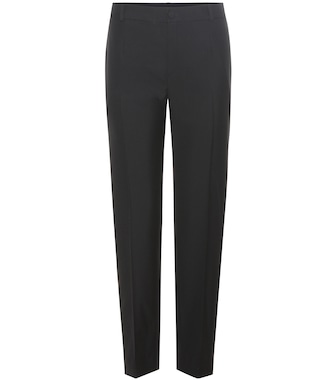Lanvin - Wool-blend tuxedo trousers - mytheresa.com