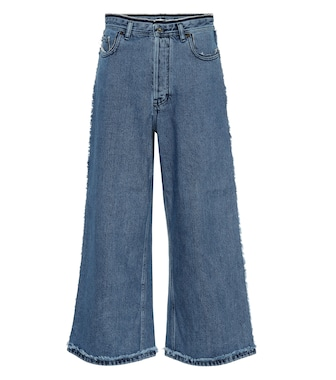 Acne Studios - High-Rise Culottes aus Denim - mytheresa.com