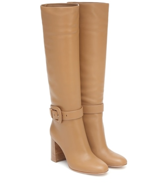 Gianvito Rossi - Leather knee-high boots - mytheresa.com