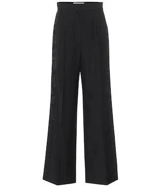 Loewe - High-rise wool jacquard pants - mytheresa.com