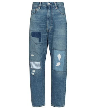 Junya Watanabe - High-rise patchwork straight jeans - mytheresa.com