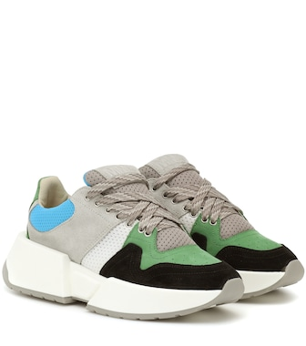 MM6 Maison Margiela - Paneled suede sneakers - mytheresa.com