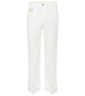 Stella McCartney - Jeans regular con ricamo - mytheresa.com