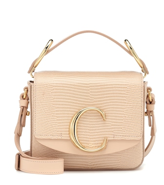 Chloé - Chloé C Mini leather shoulder bag - mytheresa.com