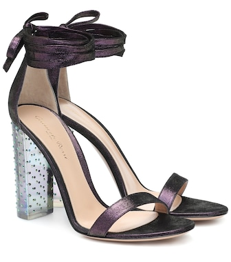 Gianvito Rossi - Astra suede sandals - mytheresa.com