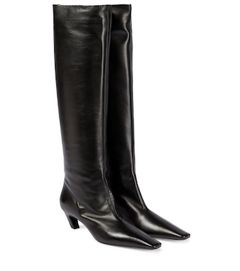 Khaite - Davis leather knee-high boots - mytheresa.com