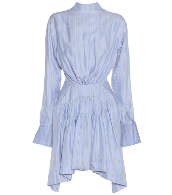JW Anderson - Striped silk-twill dress - mytheresa.com