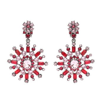 Oscar de la Renta - Crystal-embellished earrings - mytheresa.com