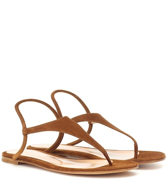Gianvito Rossi - Anya suede sandals - mytheresa.com