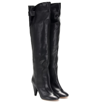 Isabel Marant - Lacine leather over-the-knee boots - mytheresa.com