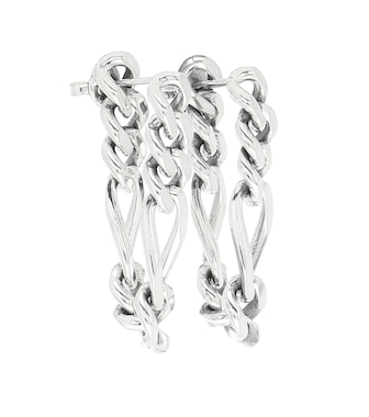 Bottega Veneta - Silver chain earrings - mytheresa.com