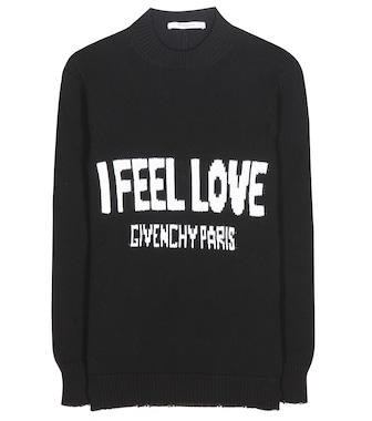 Givenchy - Knitted cotton sweater - mytheresa.com