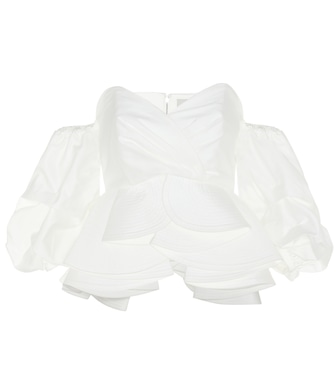 Johanna Ortiz - Bird of Paradise off-the-shoulder cotton blouse - mytheresa.com