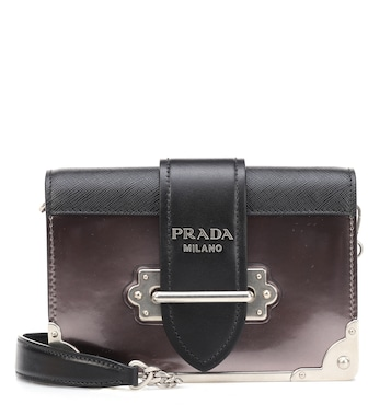 Prada - Cahier leather shoulder bag - mytheresa.com