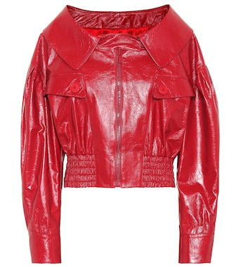 Miu Miu - Leather jacket - mytheresa.com