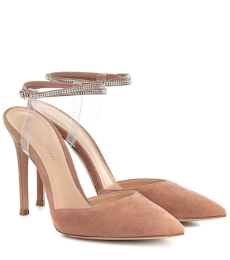 Gianvito Rossi - Jewel embellished suede pumps - mytheresa.com