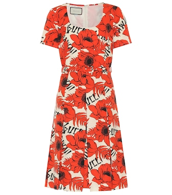 Gucci - Floral cotton midi dress - mytheresa.com