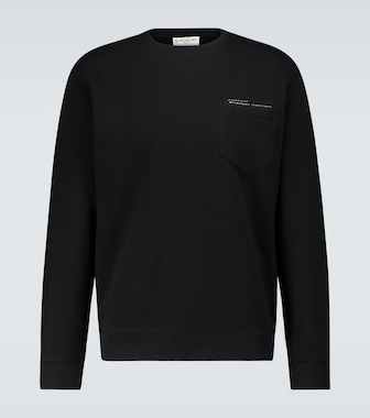 Givenchy - Cotton sweatshirt with pocket - mytheresa.com
