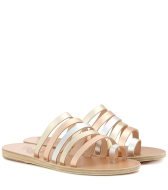 Ancient Greek Sandals - Niki metallic leather sandals - mytheresa.com