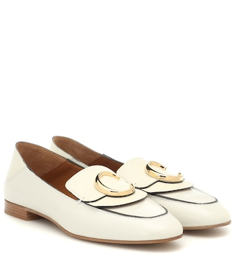 Chloé - Chloé C leather loafers - mytheresa.com