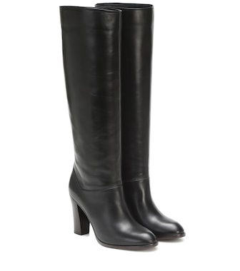 Loro Piana - Debbie 90 leather knee-high boots - mytheresa.com