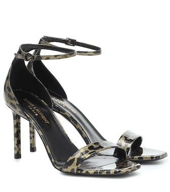 Saint Laurent - Amber leopard-print leather sandals - mytheresa.com