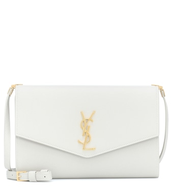 Saint Laurent - Uptown Small leather clutch - mytheresa.com