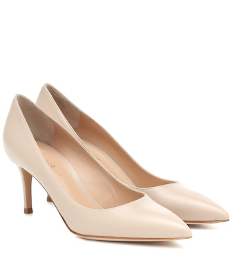 Gianvito Rossi - Gianvito 70 leather pumps - mytheresa.com
