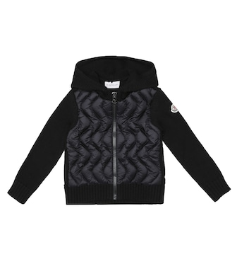 Moncler Enfant - Down and wool zip-up cardigan - mytheresa.com
