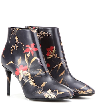 Balenciaga - Printed leather ankle boots - mytheresa.com