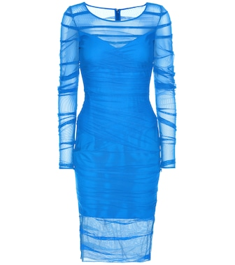Versace - Ruched mesh dress - mytheresa.com