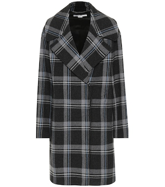 Stella McCartney - Checked wool coat - mytheresa.com