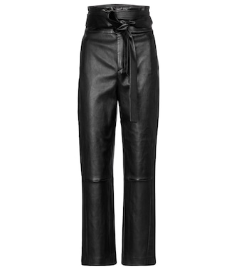 Stouls - Katousha belted leather pants - mytheresa.com